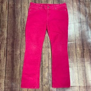 Gap Pink Real Straight Corduroy Pants